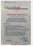 certyfikat badanie szczelności budynków