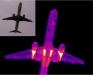 termogram samolotu wykonany kamera termowizyjną