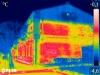 Budynki z czerwonej cegły w Żyrardowie - Termowizja