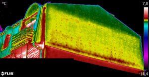 Niejednorodna termoizolacja ściany szczytowej w bliku